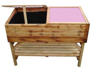 Immutatud männipuidust minikasvuhoone riiuliga rõdule või aeda